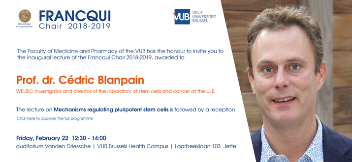 20190118 Invitation Francqui Chair Cédric Blanpain